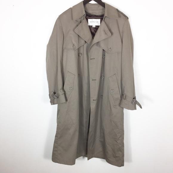 efc8c1fdb Towne by London Fog Men Tan Trench Coat Raincoat